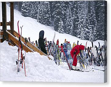 Downhill Skiing Canvas Print by Elena Elisseeva