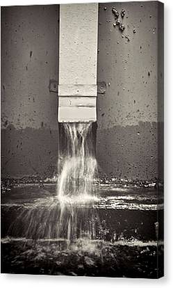 Downspout Canvas Print by Rudy Umans