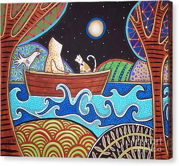 Downstream Canvas Print by Karla Gerard