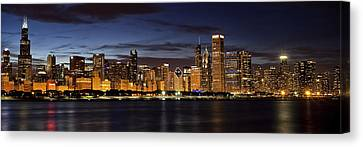 Downtown Chicago Panorama Canvas Print by Andrew Soundarajan