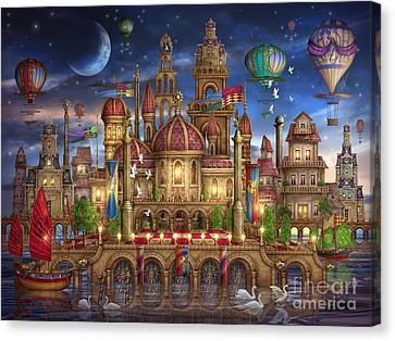 Downtown Canvas Print by Ciro Marchetti