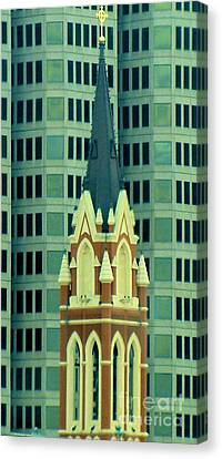 Downtown Dallas Canvas Print by Janette Boyd