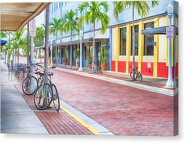 Downtown Fort Myers - Florida Canvas Print by Kim Hojnacki