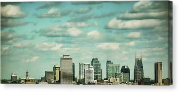 Downtown Nashville After Sunrise Canvas Print by Jai Johnson