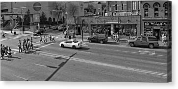 Downtown Nashville Legends Corner Canvas Print by Dan Sproul
