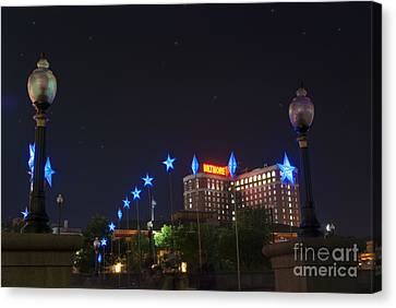 Downtown Providence At Night Canvas Print by Juli Scalzi