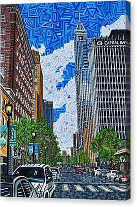 Downtown Raleigh - Fayetteville Street Canvas Print by Micah Mullen