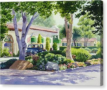 Downtown Rancho Santa Fe Canvas Print by Mary Helmreich