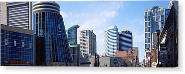 Downtown Skylines Of Nashville Canvas Print by Panoramic Images