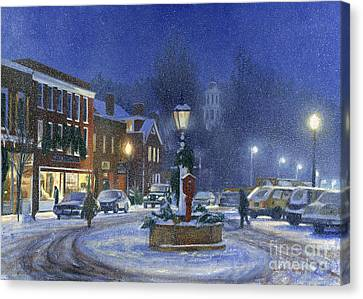 Downtown Woodstock Canvas Print by Candace Lovely