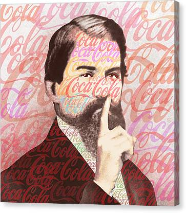 Dr. John Pemberton Inventor Of Coca-cola Canvas Print by Tony Rubino