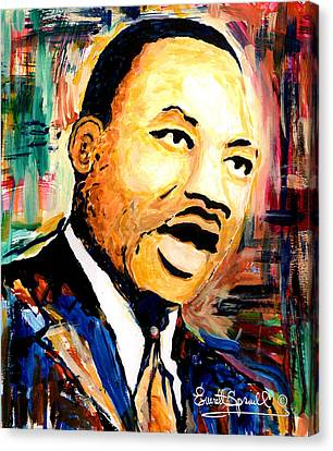 Dr. Martin Luther King Jr Canvas Print by Everett Spruill