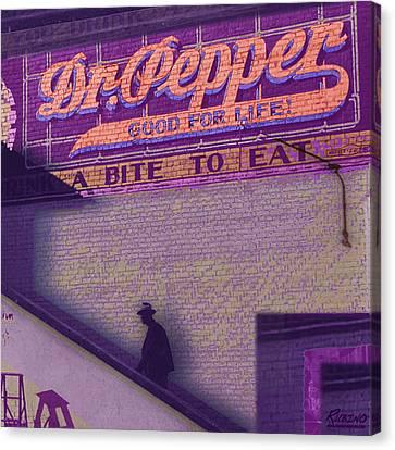Dr Pepper Blues Canvas Print by Tony Rubino