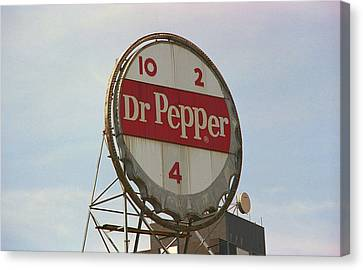 Dr. Pepper Bottle Top Canvas Print by Frank Romeo