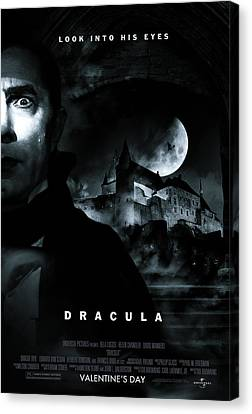 Dracula Custom Poster Canvas Print by Jeff Bell