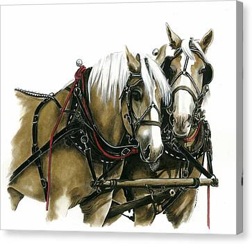 Draft Horses Canvas Print by Marie Downing