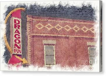 Dragon Inn Restaurant Sign Canvas Print by Liane Wright