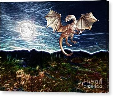 Dragon Night Canvas Print by Methune Hively