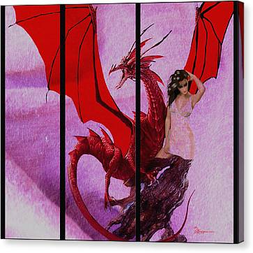 Dragon Power-featured In Comfortable Art Group Canvas Print by EricaMaxine  Price