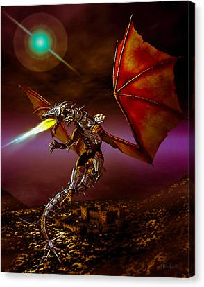 Dragon Rider Canvas Print by Bob Orsillo