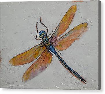 Dragonfly Canvas Print by Michael Creese