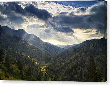 Drama In The Mountains Canvas Print by Andrew Soundarajan