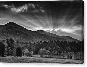 Drama In The Smokies Canvas Print by Andrew Soundarajan