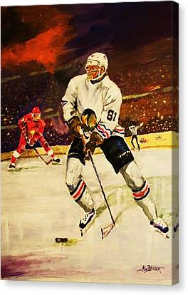 Drama On Ice Canvas Print by Al Brown