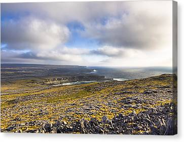 Dramatic Landscape Of The Aran Islands Canvas Print by Mark Tisdale