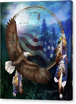 Dream Catcher - Freedom's Flight Canvas Print by Carol Cavalaris