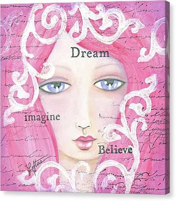 Dream Girl Canvas Print by Joann Loftus
