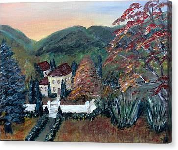 Dream House Canvas Print by Corina Lupascu