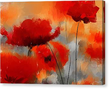 Dream Of Poppies Canvas Print by Lourry Legarde