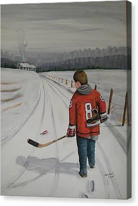 Dream Walking - Alex Canvas Print by Ron  Genest