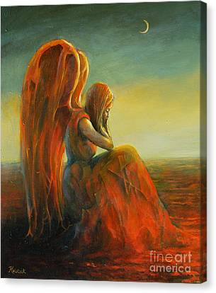 Dreaming Angel Canvas Print by Michal Kwarciak