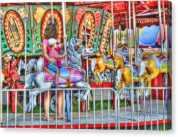 Dreaming Of Carousels Canvas Print by Kenny Francis