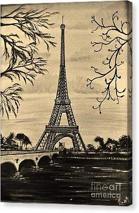 Dreaming Of Paris 2 Canvas Print by Brigitte Emme