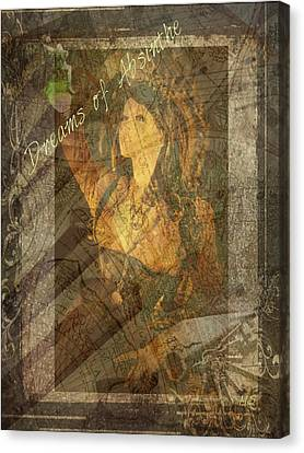 Dreams Of Absinthe - Steampunk Canvas Print by Absinthe Art By Michelle LeAnn Scott