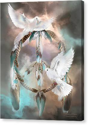 Dreams Of Peace Canvas Print by Carol Cavalaris