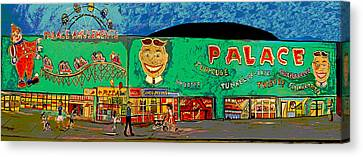 Dreams Of The Palace Canvas Print by Patricia Arroyo