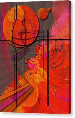 Dreamscape 06 - Tangerine Dream Canvas Print by Mimulux patricia no