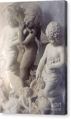 Dreamy Angel Art Cherubs And Angel Statues  Canvas Print by Kathy Fornal
