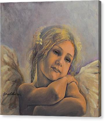 Dreamy Angel Canvas Print by Dorina  Costras