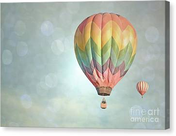 Dreamy Balloon Pair Sky Canvas Print by Andrea Hazel Ihlefeld