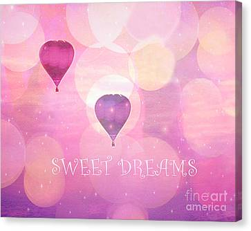 Dreamy Hot Air Balloons Whimsical Baby Child Nursery Room Art-inspirational Art-sweet Dreams Canvas Print by Kathy Fornal