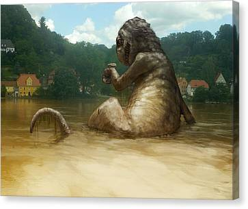 Dregs Of The Flood Canvas Print by Ethan Harris