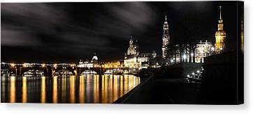 Dresden At Night Canvas Print by Steffen Gierok