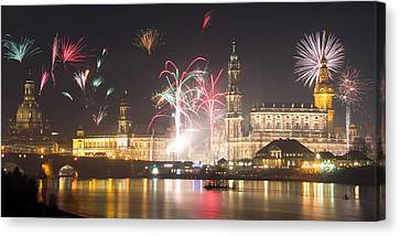Dresden Firework Canvas Print by Steffen Gierok