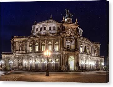 Dresden Semperopera Canvas Print by Steffen Gierok