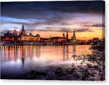 Dresden Sunset Canvas Print by Steffen Gierok